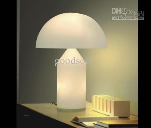 Modern White Black Glass Round Cute Table Lamp Living Room Bedroom