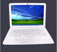 Wholesale 13 Inch Laptop Notebook Computer with Atom D2500 Dual Core HDMI Windows WIFI Webcam dropshipping