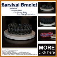 military survival - 550 King Cobra PARACORD Survival BRACELET KIT Military Emergency