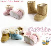 Wholesale Lowest Price Retair color New Infant Toddler Boys Girls Baby Shoes Fur Winter Boots Xmas gift T