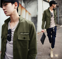 Wholesale Badge military style jacket fashion men s Slim casual jacket
