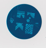 Wholesale m1 Bule Round Series Stamping Nail Art Plate Mix Design Nail Plate Best Price Image Plate
