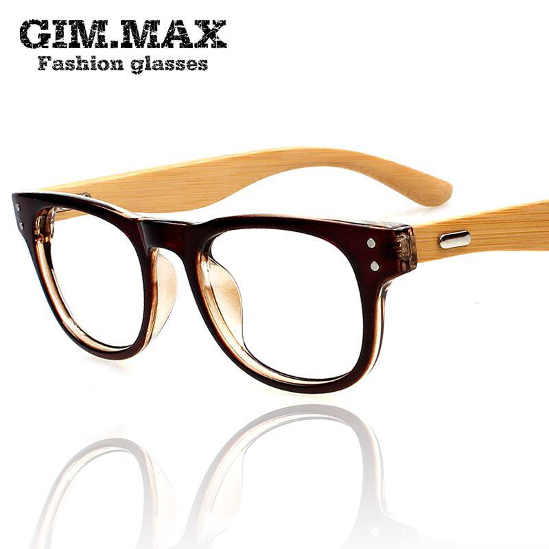 free shipping gimmax non mainstream wood glasses frame myopia eyeglasses frame black plain glasses