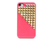 Wholesale 30pcs Studded Pyramid Stud Studs Gold Rivet Hard Back Handmade Case Cover For iphone S G