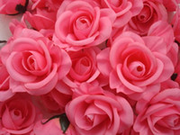Wholesale Hot Pink p Artificial Silk Camellia Rose Peony Flower Head cm freeshiping