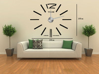 Wholesale funlife Large Mental D Big Size Home Decor Sticker Wall Clock movement included