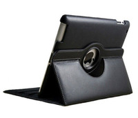 Wholesale 360 degree rotary PU Leather Cover Case for ipad ipad smart covers stand with magnet