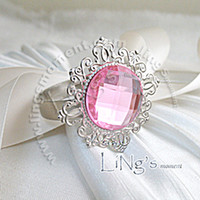 Cheap Hot Lowest price-Freeship-100 high quality,Colours Gem Napkin Ring Wedding Bridal Shower Favor Lowest price 580