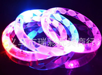 Wholesale Good price acrylic material glow sticks electronic LED flash bracelet Masquerade supplies
