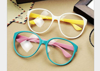 Wholesale 2013 New Fashion Glasses Frame Arale Round Frame Optical Frame With Clear Lenses PC Frame Mix Colors Free ShipmentWLJ619