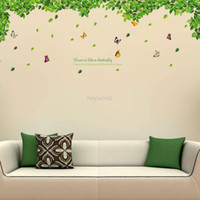 Removable home furniture decoration - Decoration furniture Wall Stickers Butterfly Fantasy romantic home living room TV backdrop bedroom