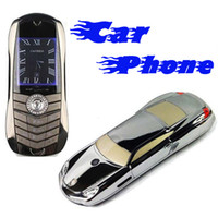 Wholesale 977 Car Shape Model Dual SIM Dual Band Headset FM Bluetooth efit gift Cheap Mobile Cell Phone