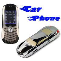 Wholesale 977 Car Shape Model Dual SIM Dual Band Headset FM Bluetooth efit gift Cheap Mobile Cell Phone