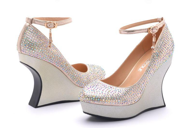China Brand Moolecole 2013 Silver Diamond Wedding High Heels Shoes ...