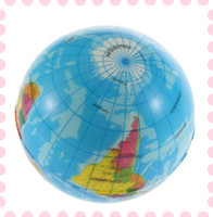Wholesale World Map Foam Earth Globe Stress Relief Bouncy Ball Atlas Geography Baby Toy Gifts