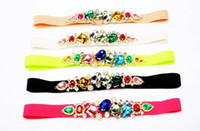 Wholesale statement neon belts Wild Candy color diamond woman belt new Fashion corset skirt belts womens designer belts XK0505
