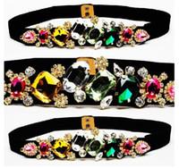 Wholesale statement neon belts Wild Candy color diamond woman belt new Fashion corset skirt belts womens designer belts XK0505