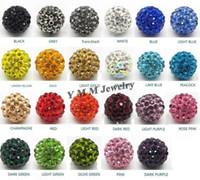 crystal ball wholesale - mm Clay Pave Disco Ball Rhinestone Crystal Shamballa Beads Pick amp Mix Colours