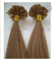 Wholesale Nail Tip quot Human Hair Extension Pre bonded Hair Extensions