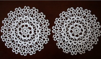Wholesale 5 Hand shuttle White Lace Cotton Tatting Doily Doilies Fabric pad quot