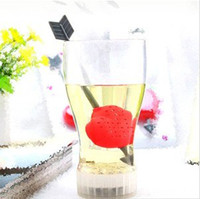 Wholesale 20PCS Arrow Across Heart Shape Tea Filter Device Tea Holders Make Tea Tools Household Items