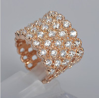 Celtic Women's Gift 2013 Fashion Rings Jewelry Ring Austria swarovski Crystal 18K Gold-Plated ring CZ Rhinestone 18KRGP RINGS Palace noble rings Rose gold color