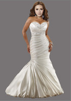 Wholesale Hot Sale NEW Sexy Plus Size Wedding Dresses Mermaid Sweetheart Satin Embroidery Wedding Dress Gowns