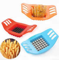 Wholesale 80PCS NEW Item Potato Slicing apparatus French Fries Maker Kitchen Knives Cut Potatoes Tools Device