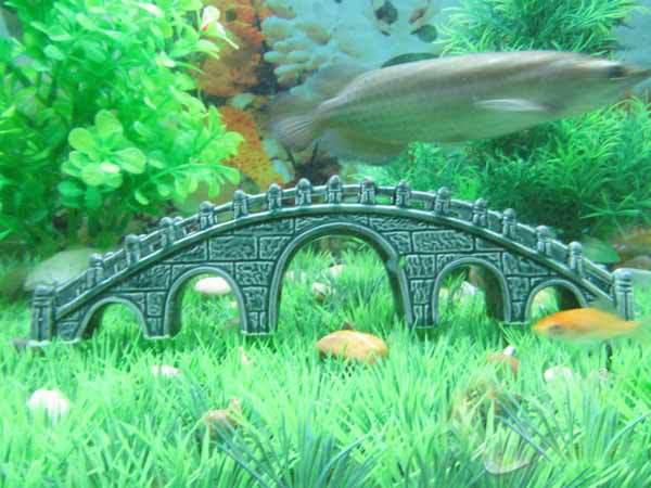 2017 fish tank aquarium decoration ceramic decoration for Aquarium bridge decoration