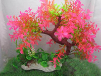 Wholesale Water aquarium landscape aquarium decoration aquatic water plants fish tank plastic flowers T9302