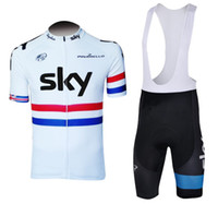 Wholesale High Quality discount Cycling jersey Sky team with bib short XS XL