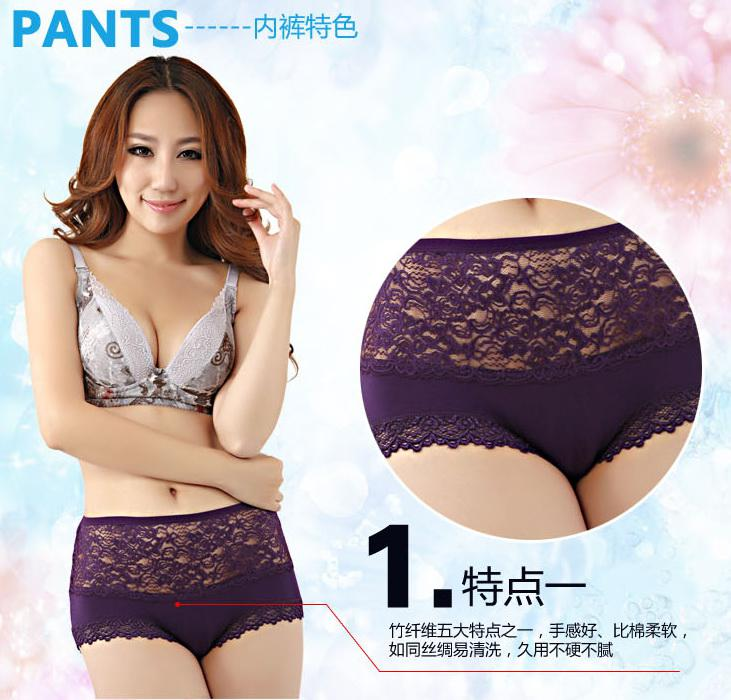 2017 New Style High Waist Women Soft Lace Briefs Sexy Panties ...