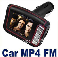 Wholesale LCD Car MP3 MP4 quot Player FM Transmitter SD MMC car mp4