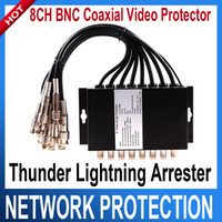 Wholesale 8 channels CCTV BNC Coaxial Video Surge Protector Protection device SPD ofr DVR system