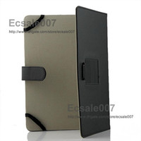 Wholesale Black inch PU Leather Case Cover Protector Skin With Holder For quot Epad Apad Laptop Tablet PC MID Android
