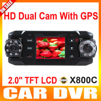 Wholesale 2 inch TFT LCD display with Dual Lens Dual Rotatable Lens IR Infrared Night Vision Black Box X8000