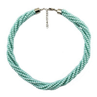 Wholesale Hot Vogue Pearl Collar Necklaces Multilayer Twist Pearls Beaded Necklaces N090