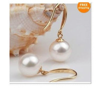 Wholesale Beautiful Akoya AAA mm white pearl Earrings k