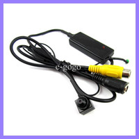 Wholesale Mini Digital Wired Video Color CCD CCTV Security Camera sony pinhole camera Surveillance device