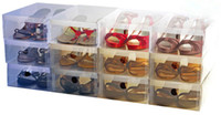 Wholesale Clear Plastics Shoe Boxes Organizer Home Storage Foldable Box