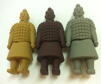 Wholesale USB Flash Drive Terra Cotta Warriors shaped Real Capacity gb gb Memory Stick U Disk Free ship