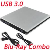Wholesale Portable Slim USB3 External Bluray Combo Optical Driver DVD CD Burner ODD HDD Drive