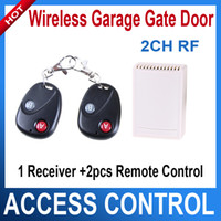 Wholesale 2 CH RF Wireless Garage gate Door Receiver Remote Control