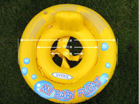 Wholesale New Baby Kids Children swimming laps yellow color inflatable swim ring
