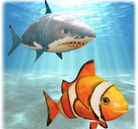 Wholesale Air Swimmers Flying Shark Clownfish Inflatable Toy Helium New Animal Planet Blimp RC toy