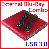 Wholesale Laptop PC USB External Bluray Combo DVD CD Player Reader DVD CD Burner ODD HDD Drive for ALL PC Mac