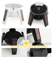 Jewelry Tray   Best price New Black Solar Powered Jewelry Phone Rotating Display Stand Turn Table