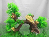 Wholesale Artificial plants driftwood combination fish tank aquarium decoration T9299