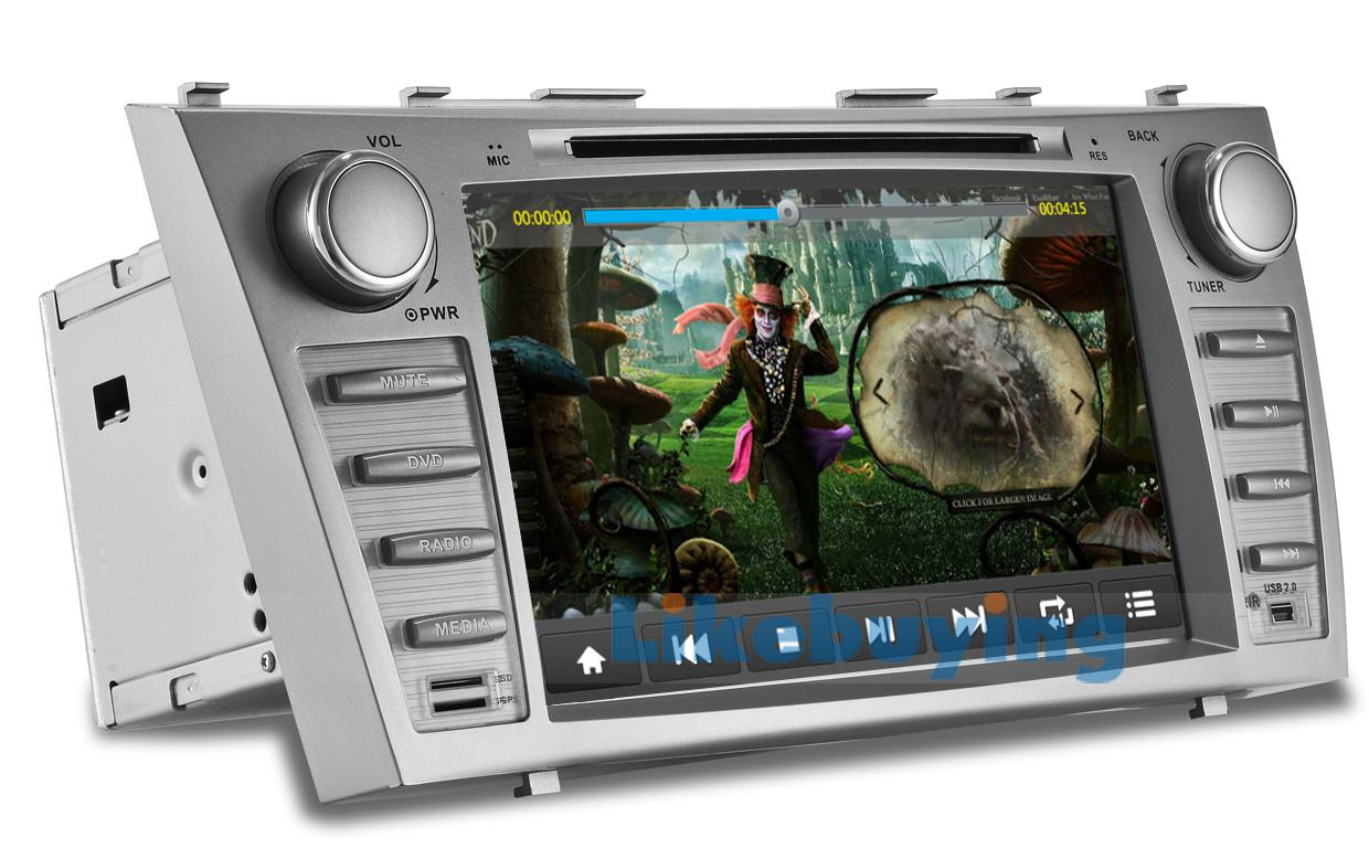pictures of 8 inch car dvd gps for toyota camry 2006 2007 2008 2009 2010 2011 fm am radio. Black Bedroom Furniture Sets. Home Design Ideas