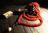Wholesale M Tibetan Buddhist Natural Red Agate coral lazuli mala prayer beads mm Jade wrist bracelet necklace Buddha beads